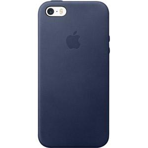photo Coque en cuir iPhone SE - Bleu nuit