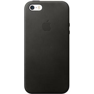 Coque en cuir iPhone SE - Noir