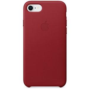 Coque en cuir pour iPhone 8 / 7 - Rouge
