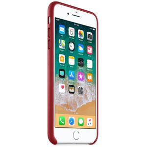Coque en cuir pour iPhone 8 Plus / 7 Plus - Rouge
