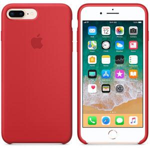 Coque en silicone iPhone 8 Plus / 7 Plus - Rouge