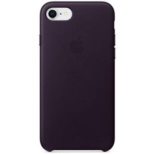 Coque en cuir pour iPhone 8 / 7 - Aubergine