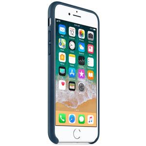 Coque en cuir pour iPhone 8 / 7 - Bleu cosmos