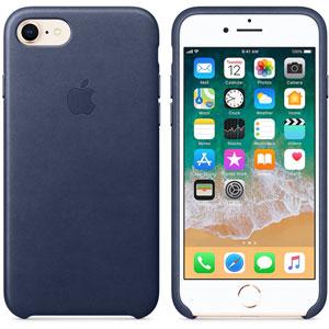 Coque en cuir pour iPhone 8 / 7 - Bleu nuit