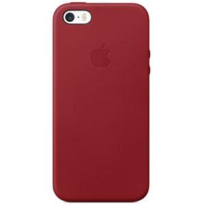 Coque en cuir iPhone SE - Rouge
