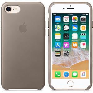 Coque en cuir pour iPhone 8 / 7 - Taupe