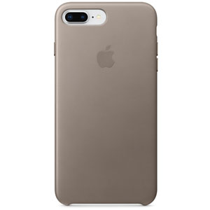 Coque en cuir iPhone 8 Plus / 7 Plus - Taupe
