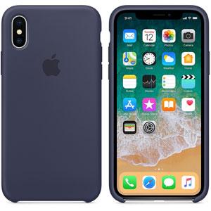 Coque en silicone pour iPhone X - Bleu nuit