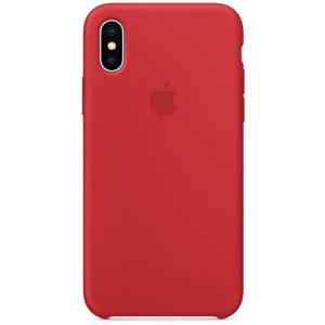 Coque en silicone pour iPhone X - Rouge