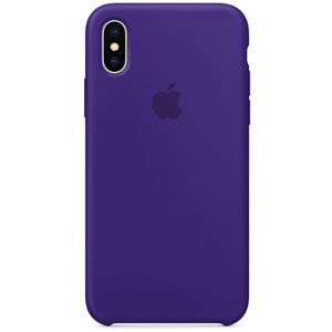 Coque en silicone pour iPhone X - Ultraviolet