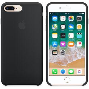 Coque en silicone pour iPhone 8 / 7 Plus - Noir