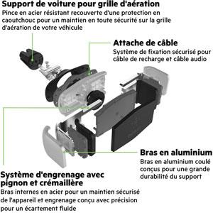 Support de voiture pour grille d'aération