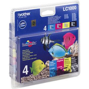photo Pack 4 x cartouche d'encre (N/J/C/M) - LC1000VALBP