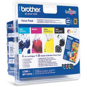 photo Pack Cartouche d'encre LC980 Valuepack