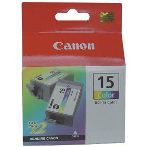photo 2 x Cartouche d'encre 3 couleurs - BCI-15C