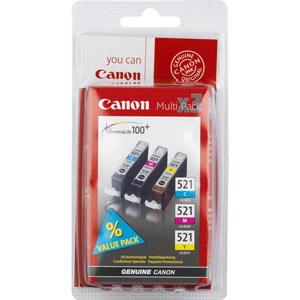 photo Pack 3 cartouches (J/C/M) - CLI 521