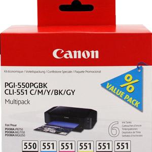 photo MultiPack PGI-550 + CLI-551BK/M/C/Y/GY