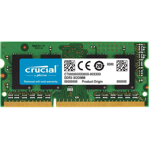 photo Crucial 16 Go DDR3 PC3-14900 CL13