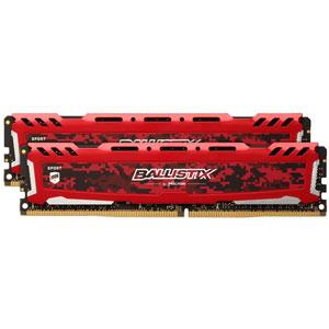 photo Ballistix SportLT Red 2 x 8Go DDR4 PC4-19200 CL16