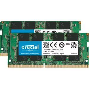 photo Crucial 2x2Go DDR4 PC4-19200 CL17