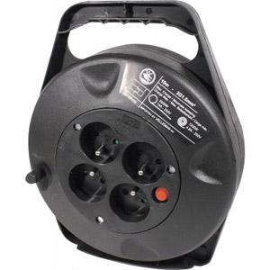 photo Enrouleur de câble 10m - 4 prises + thermo-fusible