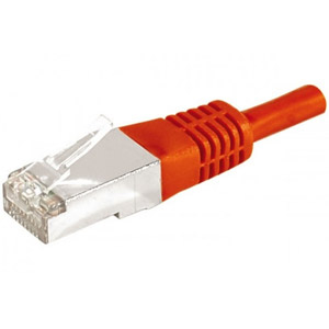 photo Cordon RJ45 F/UTP CAT 6a Rouge - 1,00m