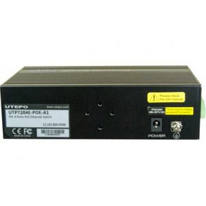 Switch 4P PoE+ 60W + uplink RJ-45 / SFP 100FX