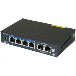 Switch 6P 10/100 dont 4 PoE+ 60W