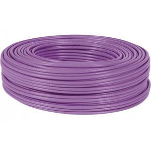 photo Câble monobrin CAT 6 U/UTP LS0H - 100m / Violet