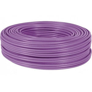 photo Câble monobrin CAT 6a U/FTP LS0H - 500m / Violet