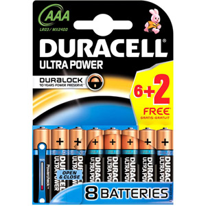 photo Ultra Power 1.5V/AAA - Pack de 6+2 piles gratuites