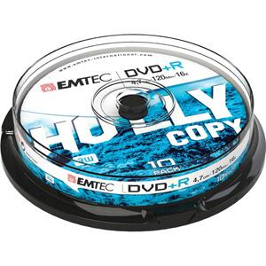 photo Pack de 10 DVD+R 4,7GB 16x Cake Box