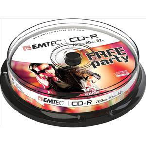 photo Pack de 10 CD-R 700Mo 52x Cake Box