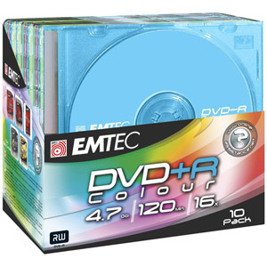 photo Pack de 10 DVD+R 4,7 16X Slim