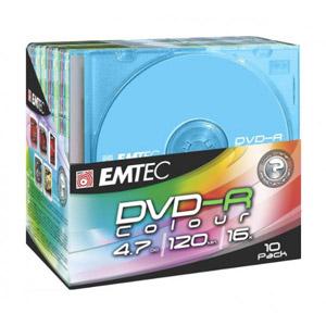 photo Pack de 10 E-DVD-R 4,7GB 16X Slim
