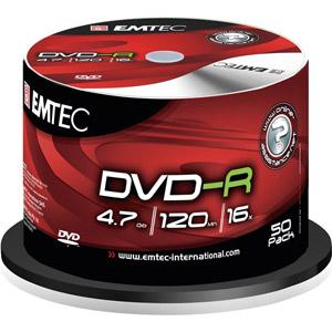 photo Pack de 50 E-DVD-R 4,7GB 16X CB Shrink