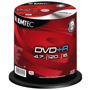 photo Pack de 100 E-DVD+R 4,7GB 16X CB