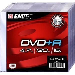 photo Pack de 10 DVD+R 4,7GB 16x Slim