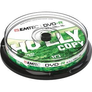 photo Pack de 10 DVD-R 4,7GB 16x  Cake Box