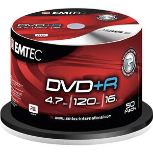 photo Pack de 50 E-DVD+R 4,7GB 16X CB Shrink