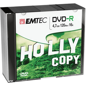 photo Pack de 10 DVD-R 4,7GB 16x Slim