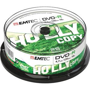 photo Pack de 25 DVD-R 4,7GB 16x Cake Box