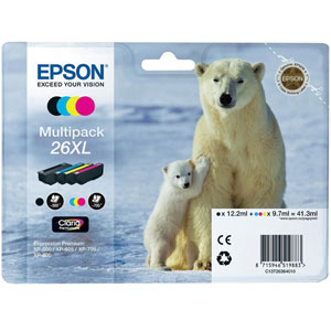 photo 26XL - Série Ours polaire/ Multipack