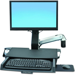 photo StyleView Sit-Stand Combo Arm with Worksurface