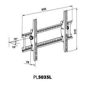 Support mural pour ecran LCD et PLASMA 37 à 60