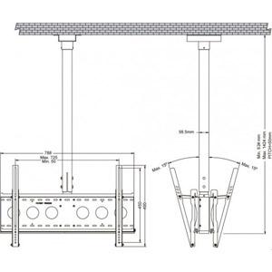 Support Plafond Double pour LCD/Plasma 32  à 60