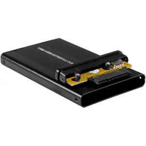 Boîtier 2,5'' USB 2.0 vers SATA II - Alu Noir