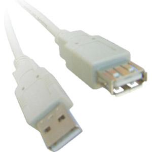 photo Rallonge USB 2.0 type AA M/F Beige - 3m