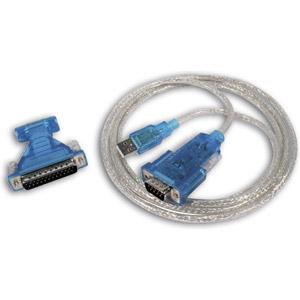 photo Adaptateur USB / DB9M ou DB25M avec câble 1,8m