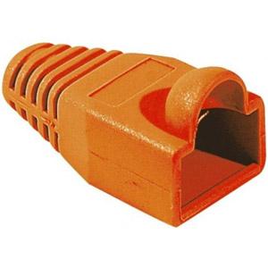 photo Manchon RJ45 orange 5,5mm (sachet de 10)